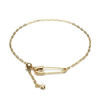 安全ピン(セーフティピン)ダイヤモンドブレスレット -K10YELLOW GOLD- / ブレスレット ・ バングル