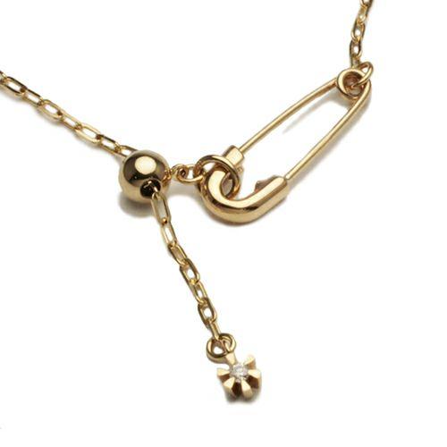 セーフティピンダイヤモンドブレスレット -K10YELLOW GOLD-