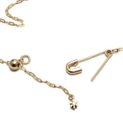 セーフティピンダイヤモンドネックレス -K10YELLOW GOLD-