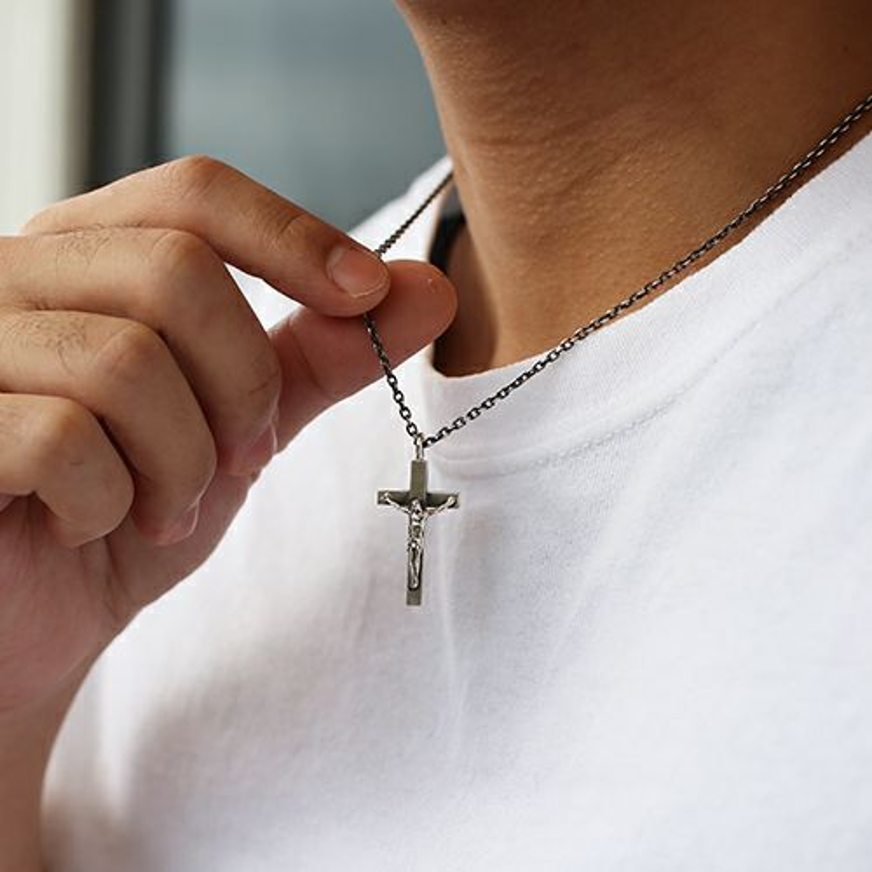 【JAM HOME MADE(ジャムホームメイド)】ロザリオネックレス S メンズ シルバー 925 チェーン クロス モチーフ 十字架 王道 人気 ブランド おすすめ プレゼント