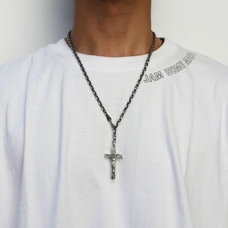 ネックレス / ロザリオネックレス M メンズ シルバー 925 チェーン クロス モチーフ 十字架 王道 人気 ブランド おすすめ プレゼント