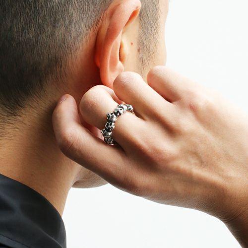 【JAM HOME MADE(ジャムホームメイド)】スカルエターナルリング / 指輪 メンズ レディース シルバー フリー サイズ ペア 人気 ブランド おすすめ ドクロ ガイコツ