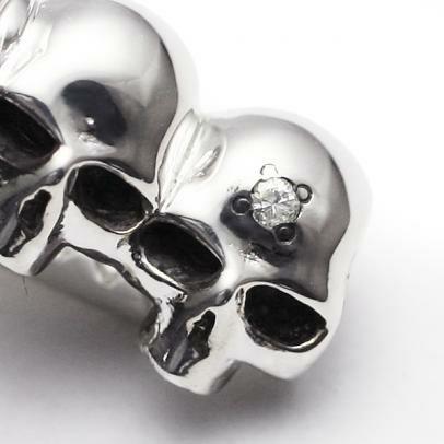 【JAM HOME MADE(ジャムホームメイド)】ダイヤモンドスカルタイピン メンズ シルバー 人気 おすす ブランド カフリンクス シャツ ブランド ビジネス小物 おすすめ 結婚式 ネクタイ