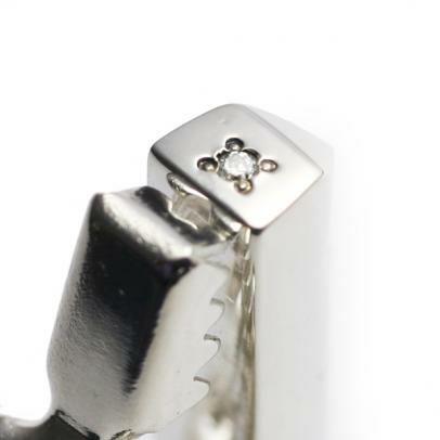 【JAM HOME MADE(ジャムホームメイド)】ダイヤモンドスタッズタイピン メンズ シルバー 人気 おすす ブランド カフリンクス シャツ ブランド ビジネス小物 おすすめ 結婚式 ネクタイ