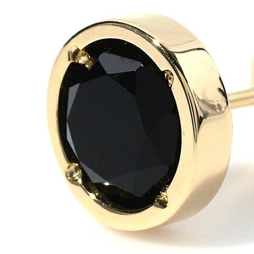 ピアス / オニキスピアス -K18YG- メンズ ゴールド ONYX 片耳 シンプル 人気 おすすめ ブランド プレゼント 誕生日 ギフト
