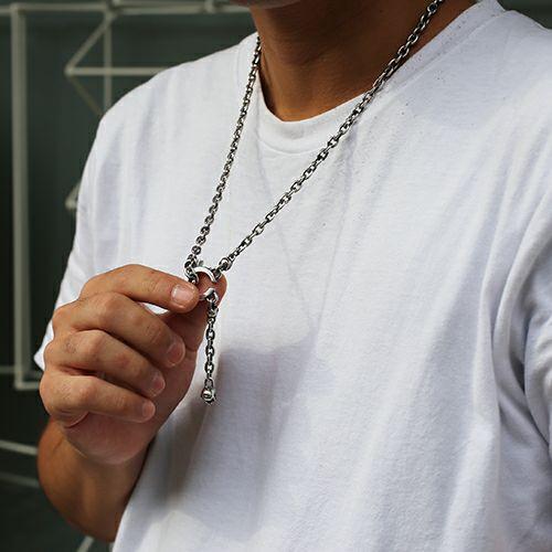 【JAM HOME MADE(ジャムホームメイド)】レボリューションスカル 3WAY ウォレットチェーン /ネックレス, ブレスレット メンズ シルバー 925 財布 コーデ シンプル パンク ロック