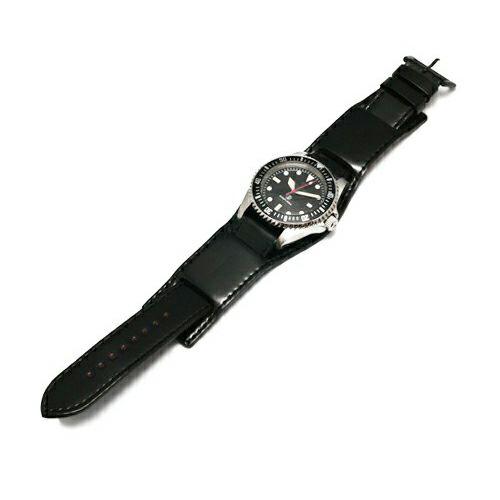 【JAM HOME MADE(ジャムホームメイド)】コードバンウォッチバンド / 腕時計 メンズ ブラック レザー 馬革 時計バンド 付け替え 20mm