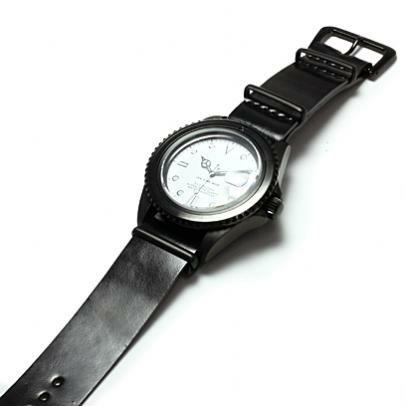 【JAM HOME MADE(ジャムホームメイド)】コードバンナトーウォッチバンド / 腕時計 メンズ ブラック レザー 馬革 時計バンド 付け替え 20mm