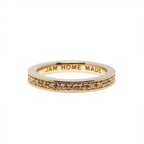 【JAM HOME MADE(ジャムホームメイド)】フラットダイヤモンドリングスター S -K10YELLOWGOLD- / 指輪 レディース ゴールド 人気 おすすめ ブランド ペア プレゼント ギフト 記念日 クリスマス