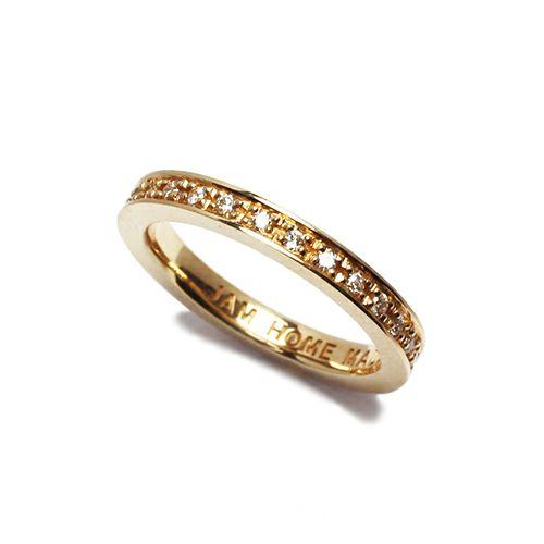 フラットダイヤモンドリングスター S -K10YELLOWGOLD- / 指輪