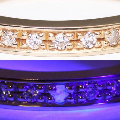 【ジャムホームメイド(JAMHOMEMADE)】フラット ダイヤモンド リング スター S - K10イエローゴールド / 指輪