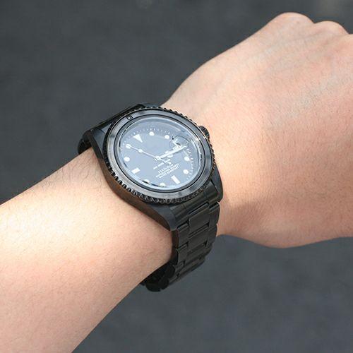 【JAM HOME MADE(ジャムホームメイド)】ジャムダイヤモンドウォッチ -BLACK- / 腕時計  メンズ 色 ブラック ダイヤモンド クォーツ 10気圧 アナログ 日付表示