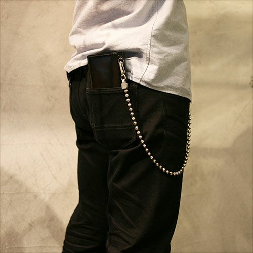 【JAM HOME MADE(ジャムホームメイド)】A型 ボールウォレットチェーン -NEW TYPE- メンズ シルバー 人気 おすすめ ブランド 血液型 受注生産 シンプル おすすめ 財布 チェーン ボール