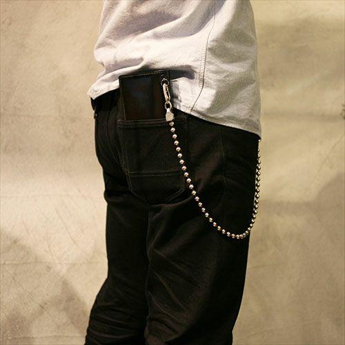 【JAM HOME MADE(ジャムホームメイド)】AB型 ボールウォレットチェーン -NEW TYPE メンズ シルバー 人気 おすすめ ブランド 血液型 受注生産 シンプル おすすめ 財布 チェーン ボール