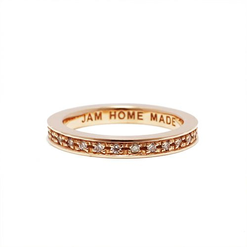 【ジャムホームメイド(JAMHOMEMADE)】フラット ダイヤモンド リング スター S - K10ピンクゴールド / 指輪