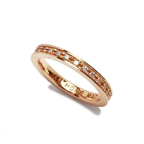 フラットダイヤモンドリングスター S -K10PINKGOLD- / 指輪