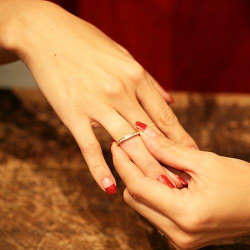 【JAM HOME MADE(ジャムホームメイド)】フラットダイヤモンドリングスター S -K10PINKGOLD- / 指輪 レディース ゴールド 人気 おすすめ ブランド ペア プレゼント ギフト 記念日 クリスマス