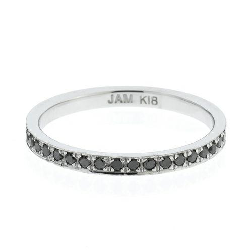 【ジャムホームメイド(JAMHOMEMADE)】カットレスエターナルリング S -K18WG- / 結婚指輪・マリッジリング