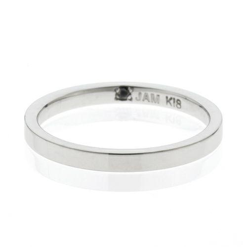 【JAM HOME MADE(ジャムホームメイド)】カットレスリング S -K18WG- / 結婚指輪・マリッジリング ウエディングリング
