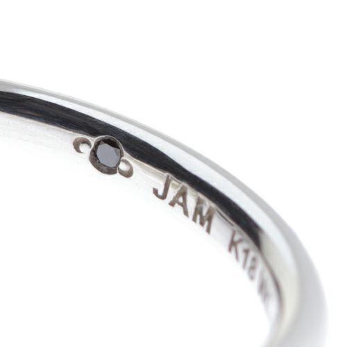"""【JAM HOME MADE(ジャムホームメイド)】シンデレラ - """"Cinderella"""" ラウンドマリッジリング S -K18 WG- / 結婚指輪・マリッジリング ウエディングリング"""