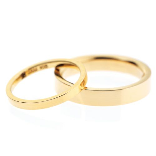 【ジャムホームメイド(JAMHOMEMADE)】カットレスリング S -K18YG- / 結婚指輪・マリッジリング