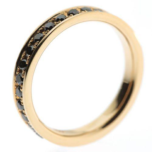 結婚指輪・マリッジリング ウエディングリング / カットレスエターナルリング M -K18YG-