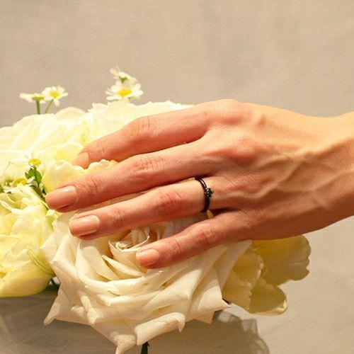 "【JAM HOME MADE(ジャムホームメイド)】シンデレラ - ""Cinderella"" ラウンドエンゲージリング -BLACK- / 婚約指輪・エンゲージリング ウエディングリング"