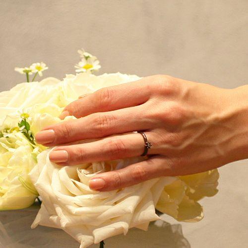 """【ジャムホームメイド(JAMHOMEMADE)】シンデレラ - """"Cinderella"""" ラウンドエンゲージリング -BROWN- / 婚約指輪・エンゲージリング"""