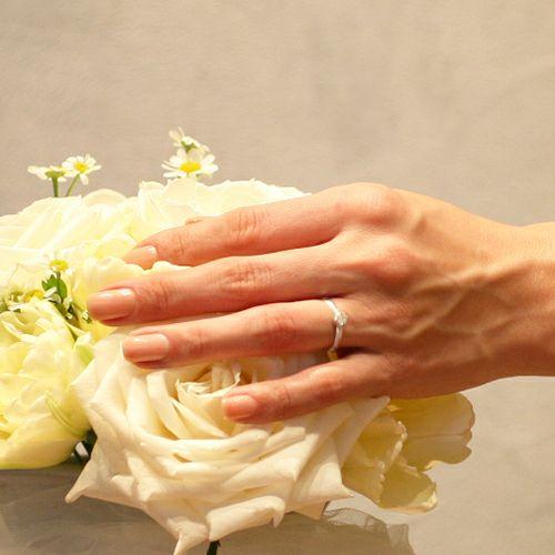 """【JAM HOME MADE(ジャムホームメイド)】シンデレラ - """"Cinderella"""" フラットエンゲージリング -WHITE- / 結婚指輪・マリッジリング ウエディングリング"""