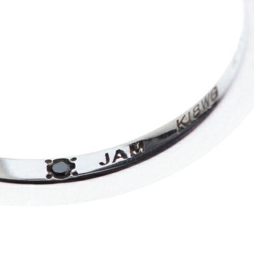 "【JAM HOME MADE(ジャムホームメイド)】シンデレラ - ""Cinderella"" フラットマリッジリング S -K18 WG- / 結婚指輪・マリッジリング ウエディングリング"
