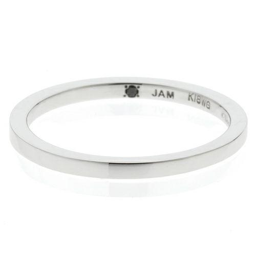 "【JAM HOME MADE(ジャムホームメイド)】シンデレラ - ""Cinderella"" フラットマリッジリング M -K18 WG- / 結婚指輪・マリッジリング ウエディングリング"
