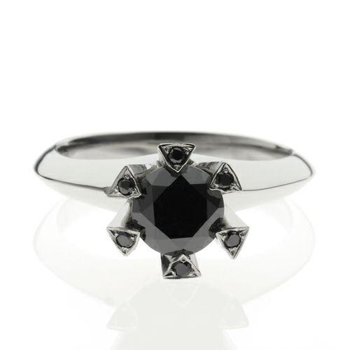 婚約指輪・エンゲージリング ウエディングリング / ファイナルブラックダイヤモンドクラシックリング