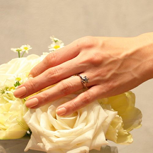【ジャムホームメイド(JAMHOMEMADE)】セミファイナルブラックダイヤモンドクラシックリング / 婚約指輪・エンゲージリング