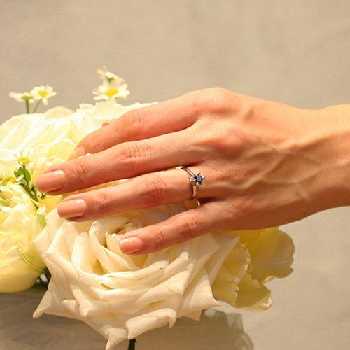 【ジャムホームメイド(JAMHOMEMADE)】3RD ブラックダイヤモンドクラシックリング / 婚約指輪・エンゲージリング