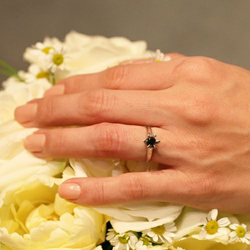 【JAM HOME MADE(ジャムホームメイド)】3RD ブラックダイヤモンドクラシックリング / 婚約指輪・エンゲージリング ウエディングリング