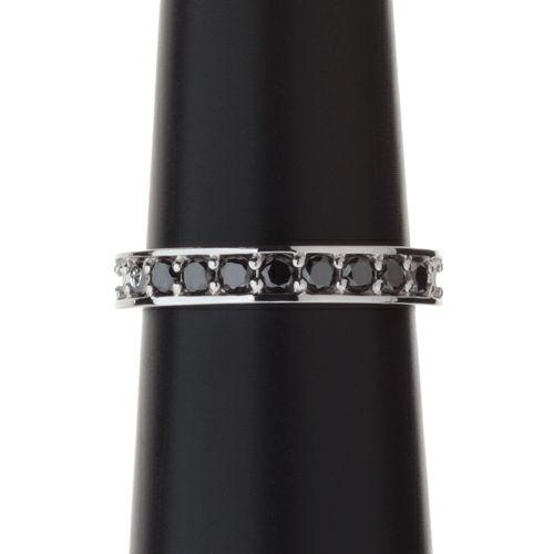 3RD ブラックダイヤモンドモダンリング / 婚約指輪・エンゲージリング