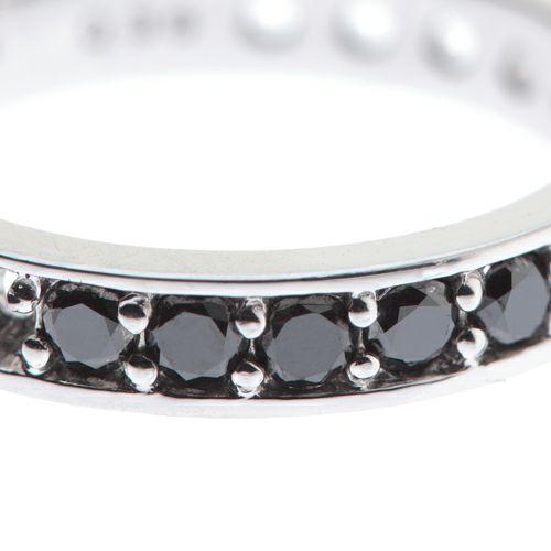 【ジャムホームメイド(JAMHOMEMADE)】3RD ブラックダイヤモンドモダンリング / 婚約指輪・エンゲージリング