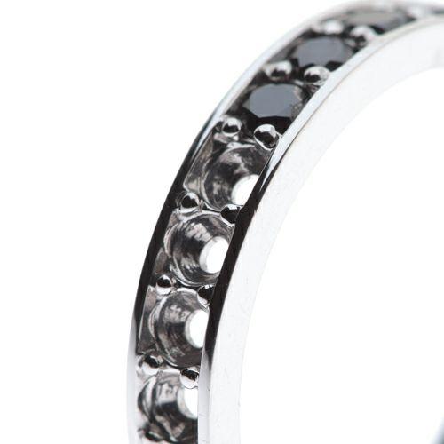 【JAM HOME MADE(ジャムホームメイド)】3RD ブラックダイヤモンドモダンリング / 婚約指輪・エンゲージリング ウエディングリング