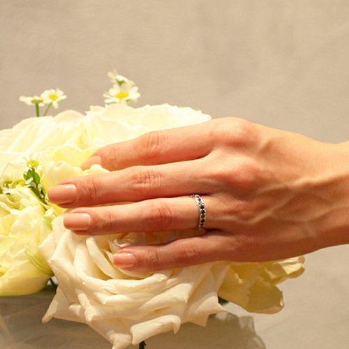 婚約指輪・エンゲージリング ウエディングリング / 3RD ブラックダイヤモンドモダンリング