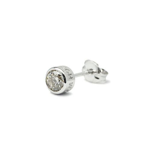 【JAM HOME MADE(ジャムホームメイド)】ダイヤモンドモダンピアス 4mm メンズ シルバー 925 片耳 シンプル 人気 おすすめ ブランド プレゼント 誕生日 ギフト