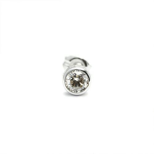 ピアス / ダイヤモンドモダンピアス 4mm メンズ シルバー 925 片耳 シンプル 人気 おすすめ ブランド プレゼント 誕生日 ギフト