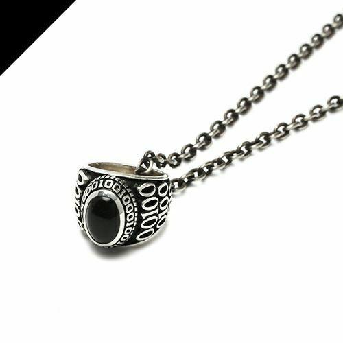ネックレス / ONYX ベビーカレッジリングネックレス メンズ レディース ペア シルバー ブラック 人気 おすすめ ブランド プレゼント シンプル カレッジリング