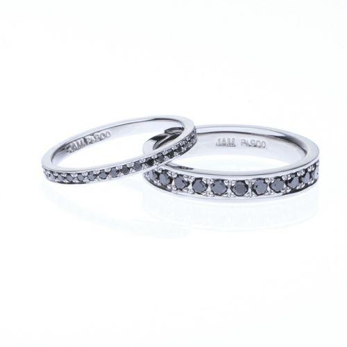 【ジャムホームメイド(JAMHOMEMADE)】カットレスエターナルリング M -PT900- / 結婚指輪・マリッジリング