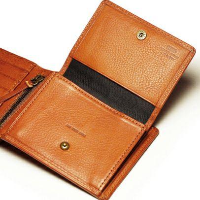 【JAM HOME MADE(ジャムホームメイド)】ミネルバボックスミディアムウォレット -BROWN- / 二つ折り財布