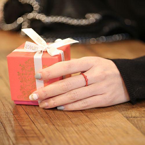"""【JAM HOME MADE(ジャムホームメイド)】白雪姫 - """"Snow White"""" スノーホワイトリボンリング / 指輪 レディース レッド 人気 おすすめ ブランド プレゼント ギフト  クリスマス ディズニー コラボ"""