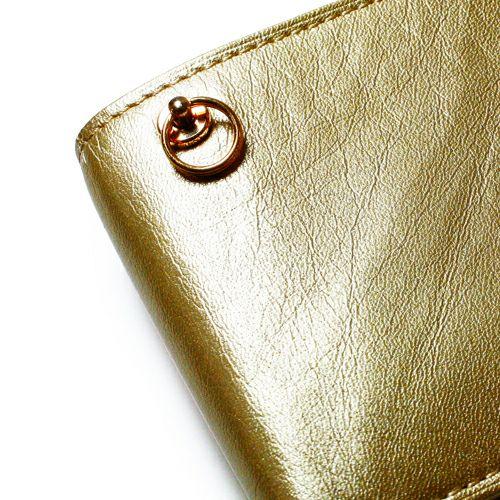 二つ折り財布 / ミディアムウォレット -GOLD-