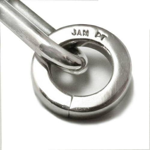 【JAM HOME MADE(ジャムホームメイド)】セーフティピン長アズキチェーンダイヤモンド&プラチナブレスレット L メンズ シンプル おすすめ ブランド 人気 プレゼント ダイヤモンド 安全ピン