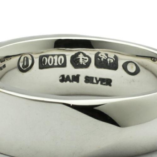 【JAM HOME MADE(ジャムホームメイド)】ミックスフラット&ラウンドリング M / 指輪 メンズ シルバー ペアリング 人気 おすすめ ブランド ギフト プレゼント クリスマス 記念日