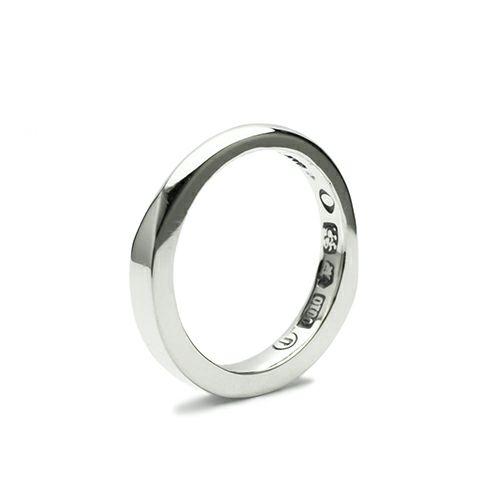【ジャムホームメイド(JAMHOMEMADE)】ミックスフラット& ラウンド リング S - シルバー / 指輪
