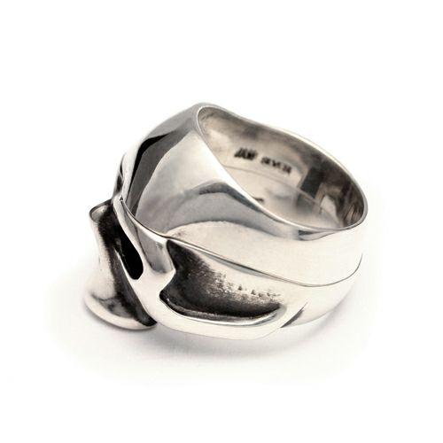 指輪 / ハーフスカルリング セット